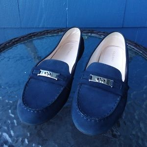 Cole Haan Women's Blue Suede Loafer Driving Shoe
